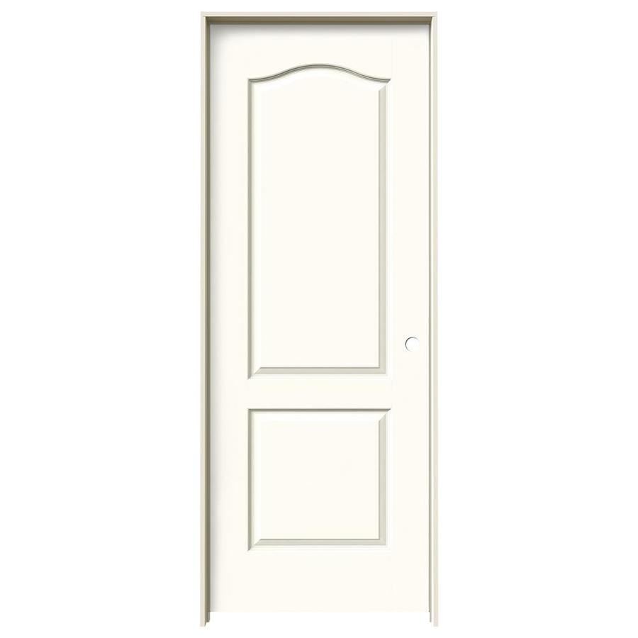 Jeld Wen Princeton White 2 Panel Arch Top Solid Core Molded Composite Single Prehung Door Common 30 In X 80 Actual 31 5625 81 6875