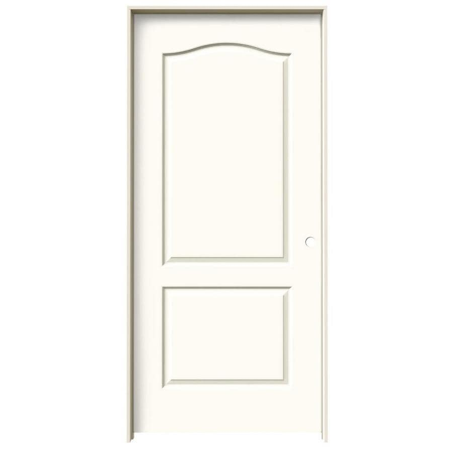 JELD-WEN White Prehung Solid Core 2-Panel Arch Top Interior Door (Common: 36-in x 80-in; Actual: 37.562-in x 81.688-in)