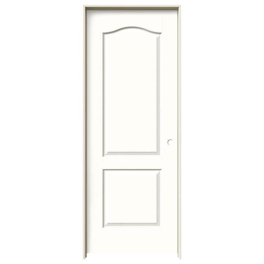 JELD-WEN Snow Storm Prehung Solid Core 2-Panel Arch Top Interior Door (Common: 30-in x 80-in; Actual: 31.562-in x 81.688-in)