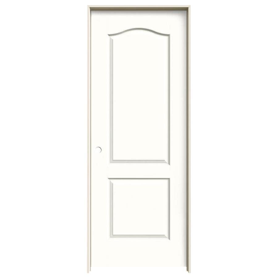 JELD-WEN Snow Storm Prehung Solid Core 2-Panel Arch Top Interior Door (Common: 32-in x 80-in; Actual: 33.562-in x 81.688-in)
