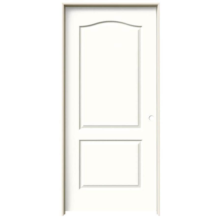 JELD-WEN Princeton Snow Storm Single Prehung Interior Door (Common: 36-in x 80-in; Actual: 37.562-in x 81.688-in)
