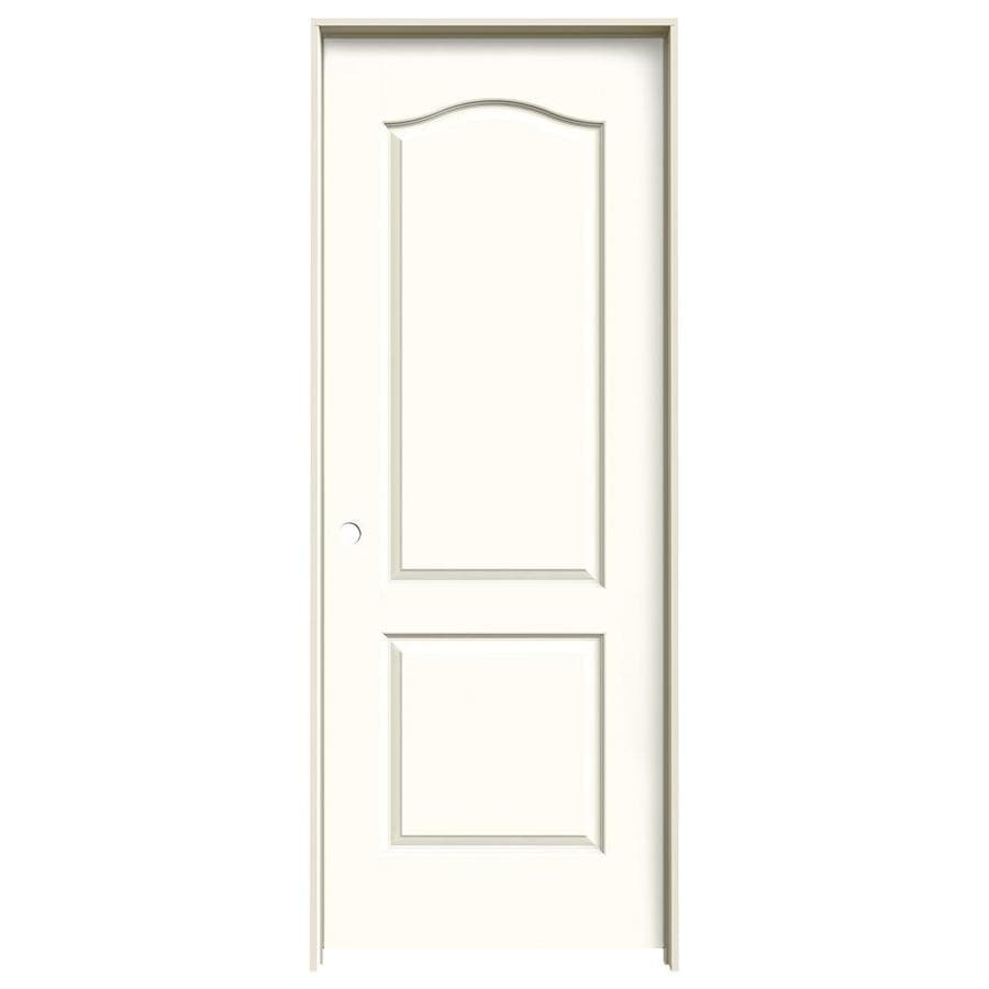 JELD-WEN Moonglow Prehung Solid Core 2-Panel Arch Top Interior Door (Common: 24-in x 80-in; Actual: 25.562-in x 81.688-in)
