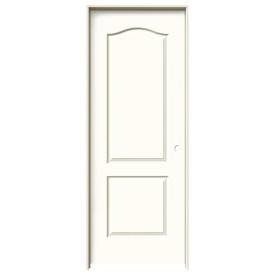 JELD-WEN Princeton Moonglow Solid Core Molded Composite Single Prehung Interior Door (Common: 30-in x 80-in; Actual: 31.562-in x 81.688-in)