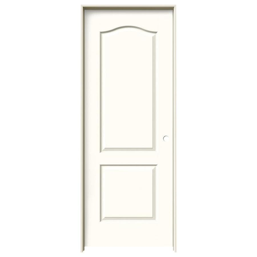 JELD-WEN Princeton Moonglow Solid Core Molded Composite Single Prehung Interior Door (Common: 32-in x 80-in; Actual: 33.5620-in x 81.6880-in)