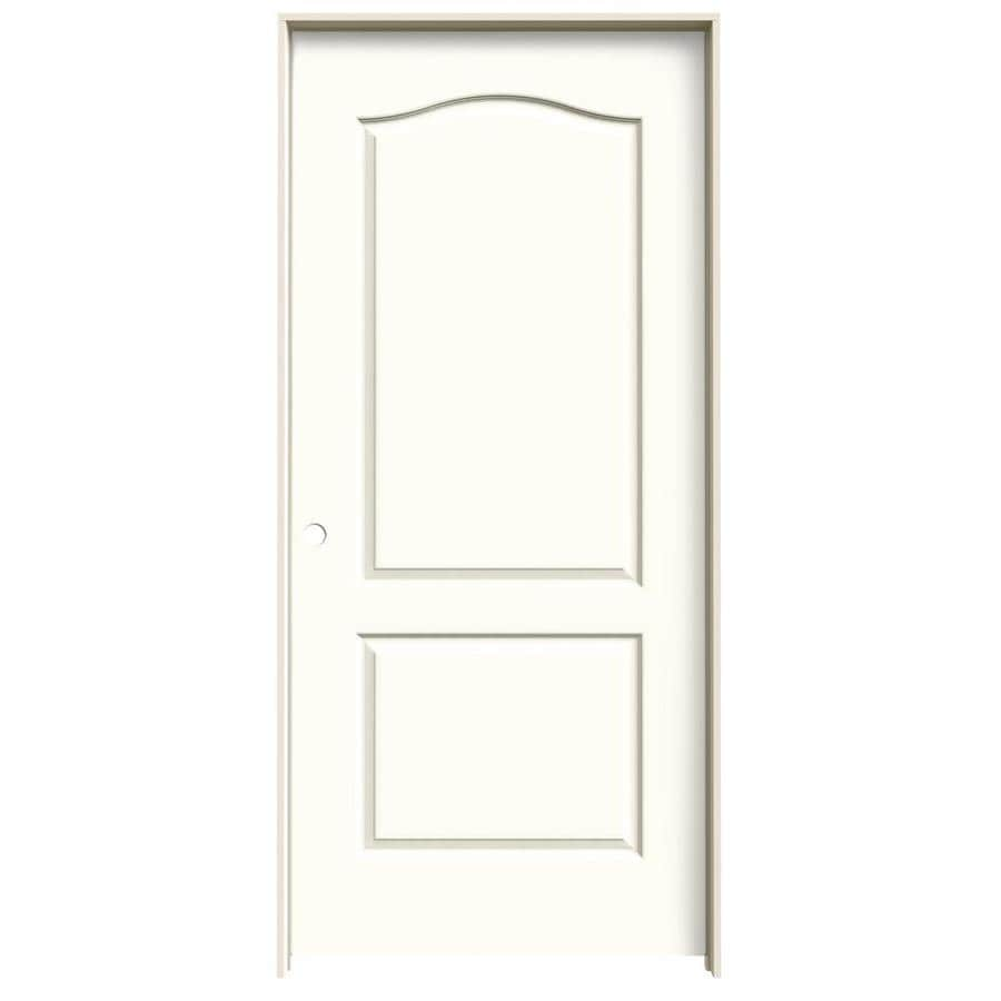 JELD-WEN Moonglow Prehung Solid Core 2-Panel Arch Top Interior Door (Common: 36-in x 80-in; Actual: 37.562-in x 81.688-in)
