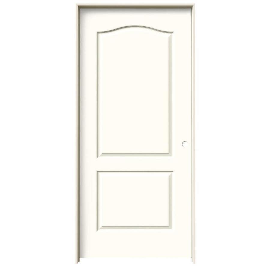 JELD-WEN Moonglow 2-panel Arch Top Single Prehung Interior Door (Common: 36-in x 80-in; Actual: 37.562-in x 81.688-in)