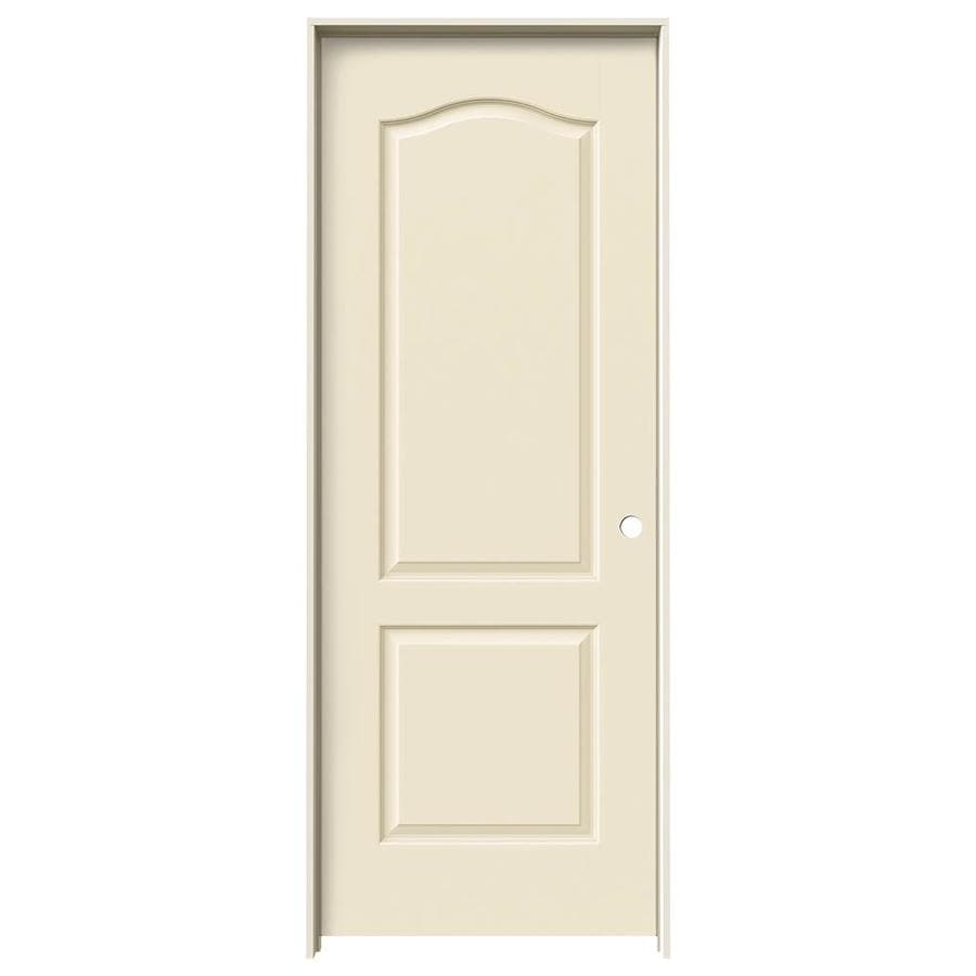 JELD-WEN Cream-N-Sugar Prehung Solid Core 2-Panel Arch Top Interior Door (Common: 28-in x 80-in; Actual: 29.562-in x 81.688-in)