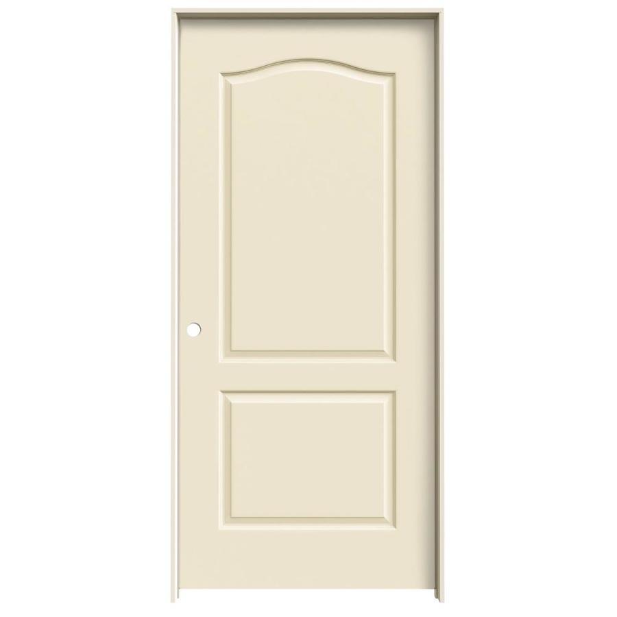 JELD-WEN Cream-N-Sugar Prehung Solid Core 2-Panel Arch Top Interior Door (Common: 36-in x 80-in; Actual: 37.562-in x 81.688-in)