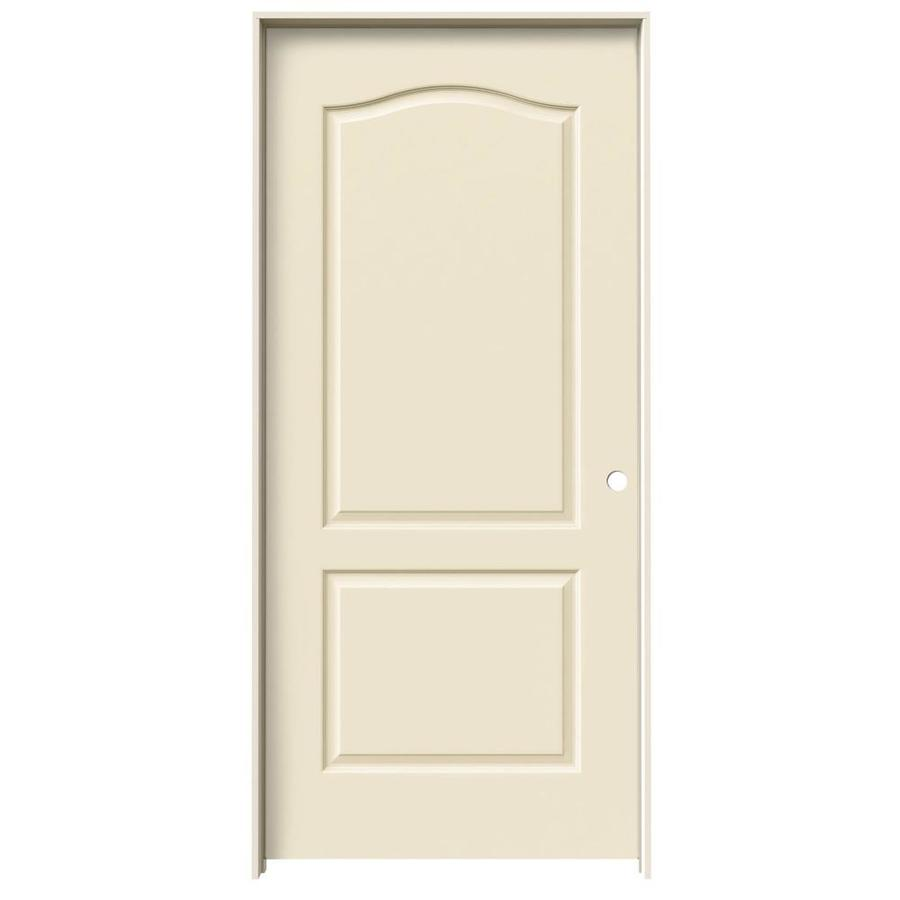 JELD-WEN Cream-N-Sugar Solid Core Molded Composite Single Prehung Interior Door (Common: 36-in x 80-in; Actual: 37.562-in x 81.688-in)