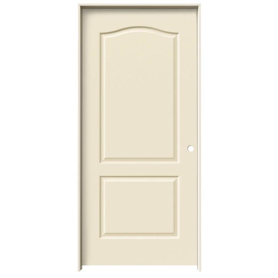 JELD-WEN Cream-N-Sugar Prehung Solid Core 2-Panel Arch Top Interior Door (Common: 36-in x 80-in; Actual: 37.562-in x 81.688-in)