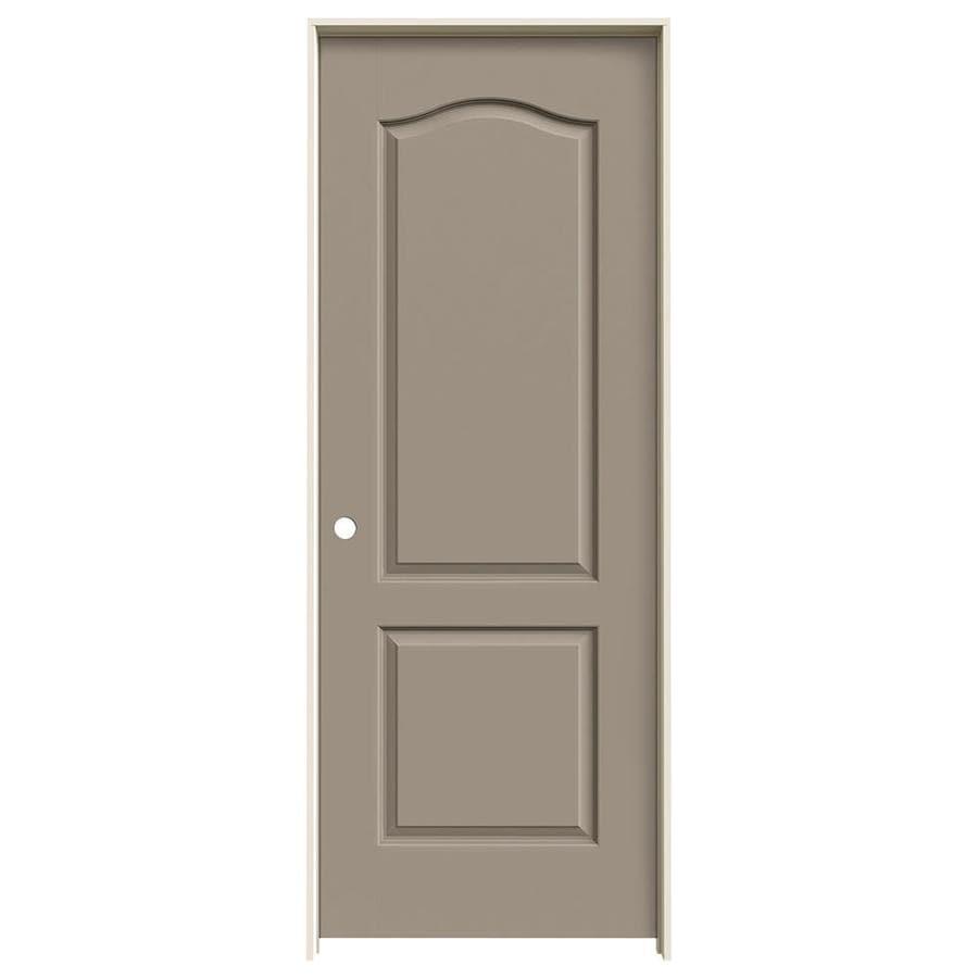 JELD-WEN Sand Piper Prehung Solid Core 2-Panel Arch Top Interior Door (Common: 24-in x 80-in; Actual: 25.562-in x 81.688-in)