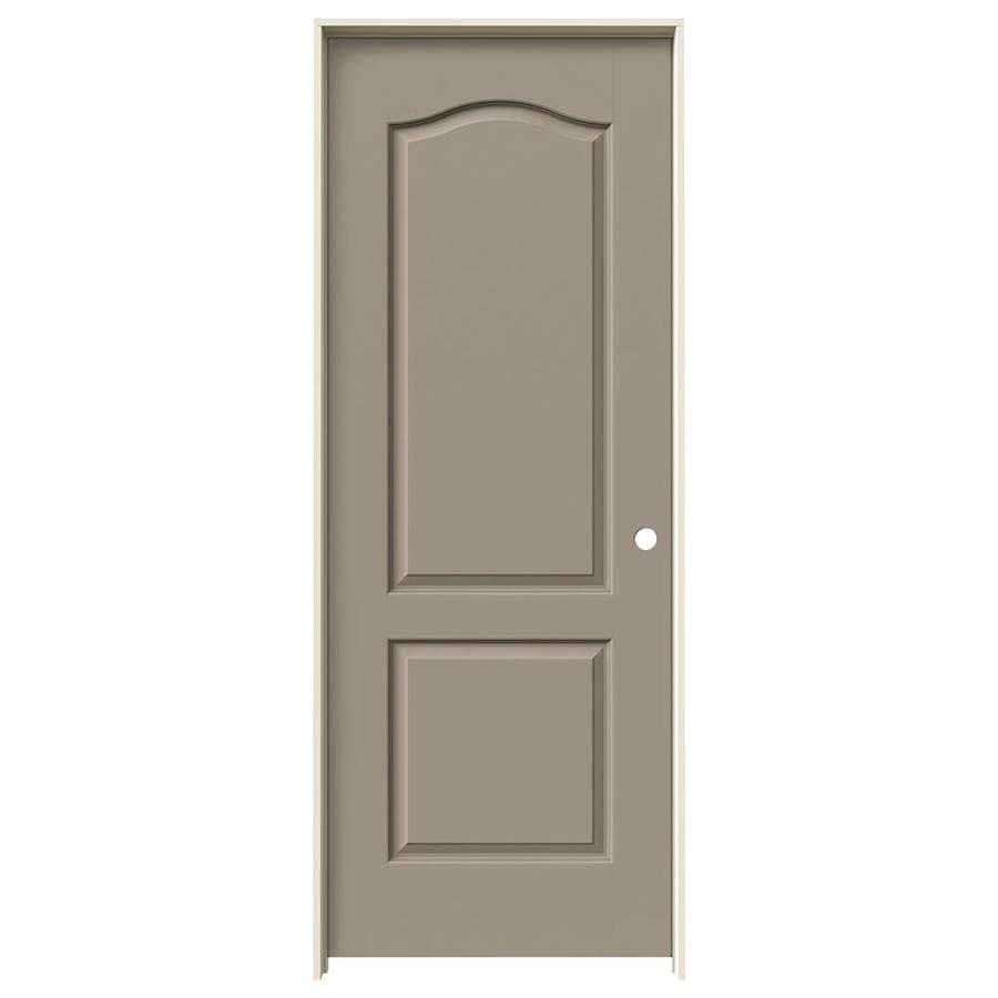 JELD-WEN Sand Piper Prehung Solid Core 2-Panel Arch Top Interior Door (Common: 32-in x 80-in; Actual: 33.562-in x 81.688-in)