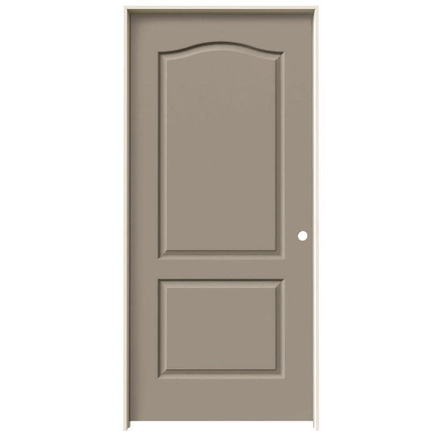 JELD-WEN Princeton Sand Piper Single Prehung Interior Door (Common: 36-in x 80-in; Actual: 37.562-in x 81.688-in)