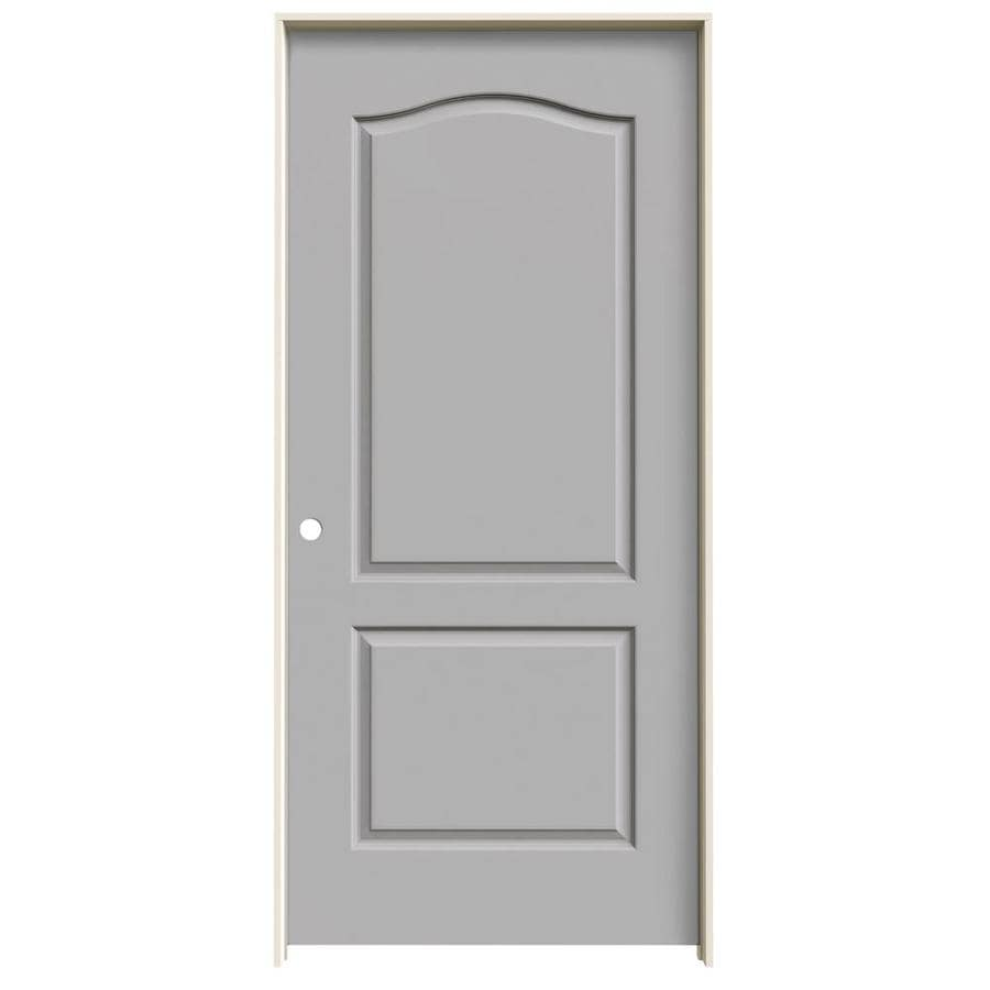 JELD-WEN Driftwood 2-panel Arch Top Single Prehung Interior Door (Common: 36-in x 80-in; Actual: 37.562-in x 81.688-in)