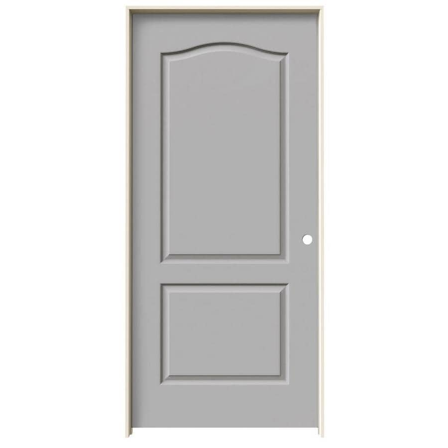JELD-WEN Driftwood Prehung Solid Core 2-Panel Arch Top Interior Door (Common: 36-in x 80-in; Actual: 37.562-in x 81.688-in)