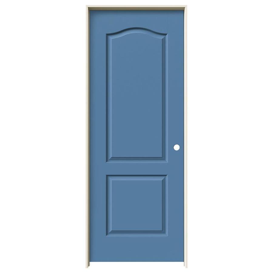 JELD-WEN Princeton Blue Heron Solid Core Molded Composite Single Prehung Interior Door (Common: 32-in x 80-in; Actual: 33.562-in x 81.688-in)
