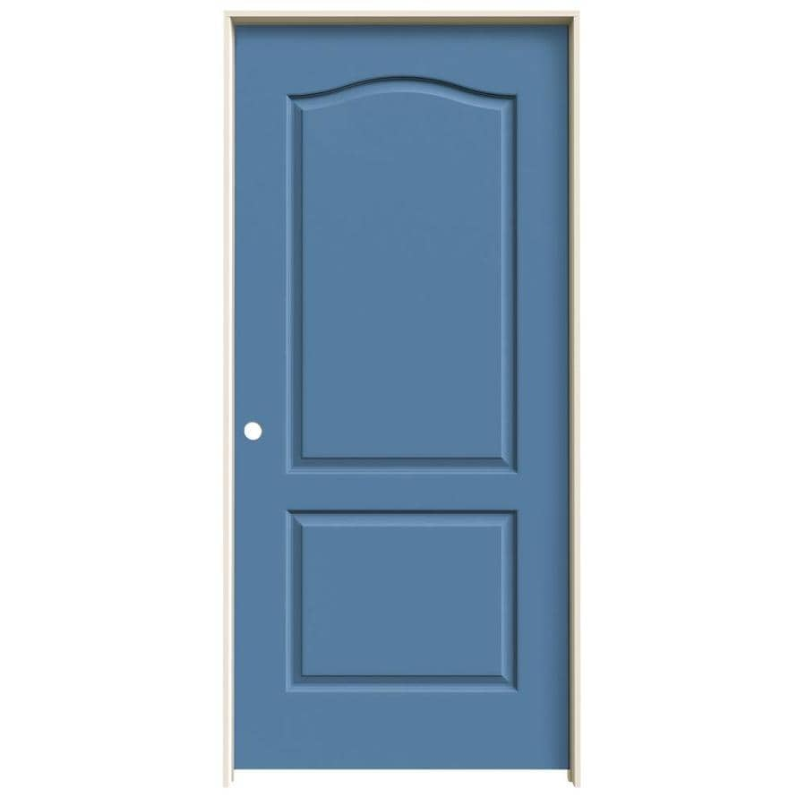 JELD-WEN Blue Heron Prehung Solid Core 2-Panel Arch Top Interior Door (Common: 36-in x 80-in; Actual: 37.562-in x 81.688-in)