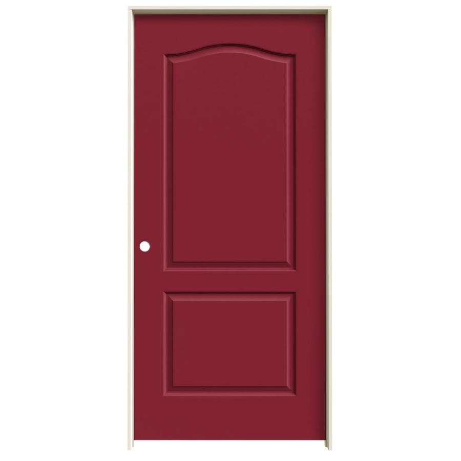 JELD-WEN Princeton Barn Red Solid Core Molded Composite Single Prehung Interior Door (Common: 36-in x 80-in; Actual: 37.562-in x 81.688-in)