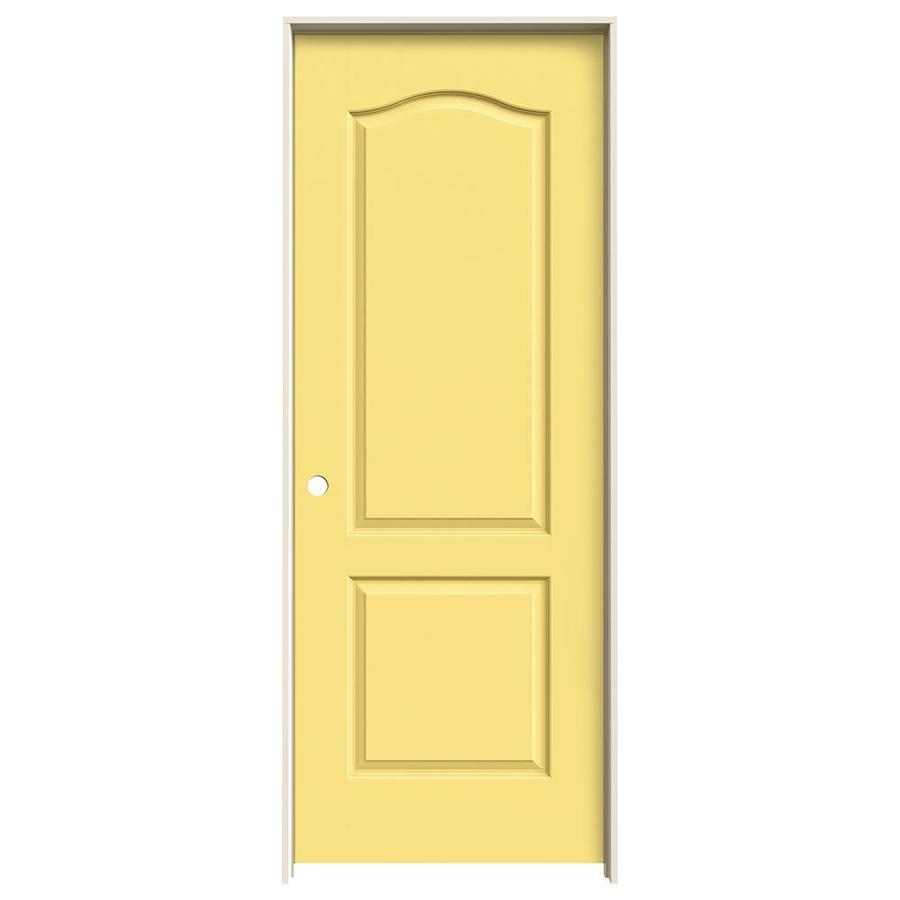 Shop jeld wen marigold 2 panel arch top single prehung for 1 panel interior door