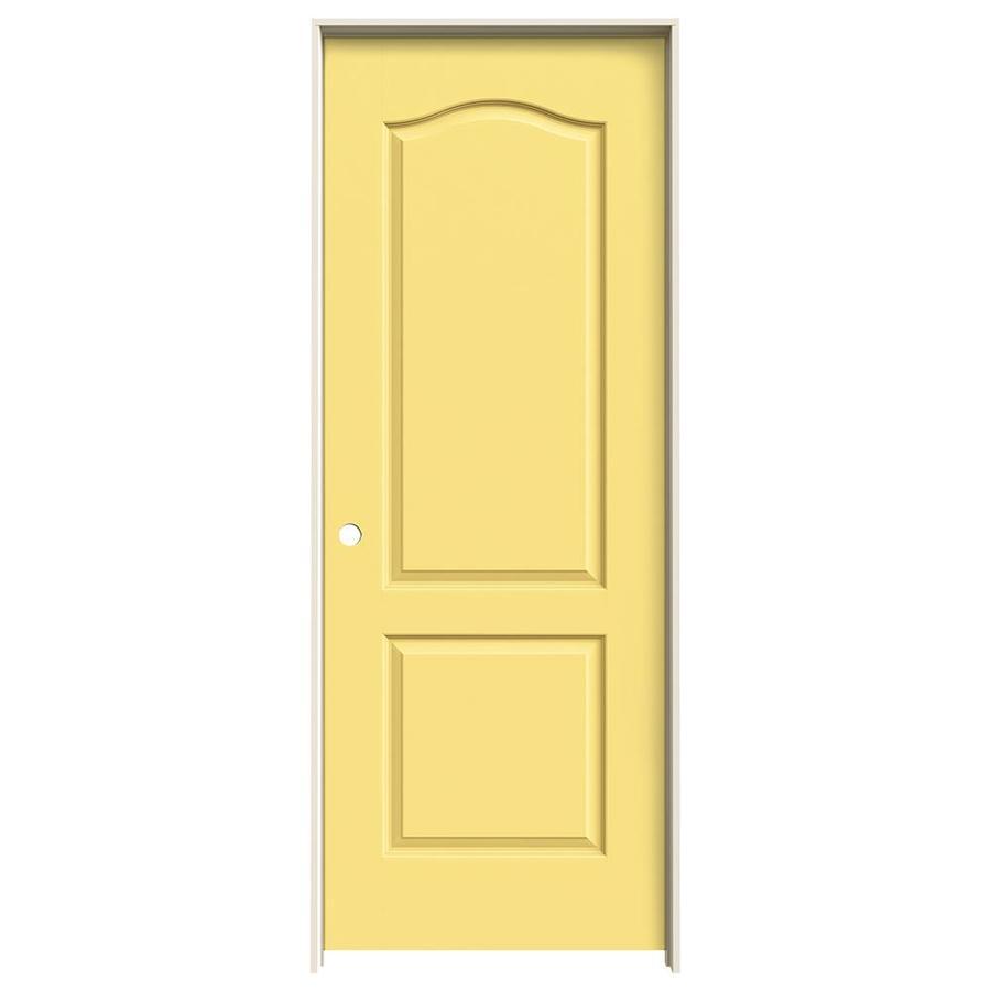 JELD-WEN Marigold Prehung Solid Core 2-Panel Arch Top Interior Door (Common: 32-in x 80-in; Actual: 33.562-in x 81.688-in)