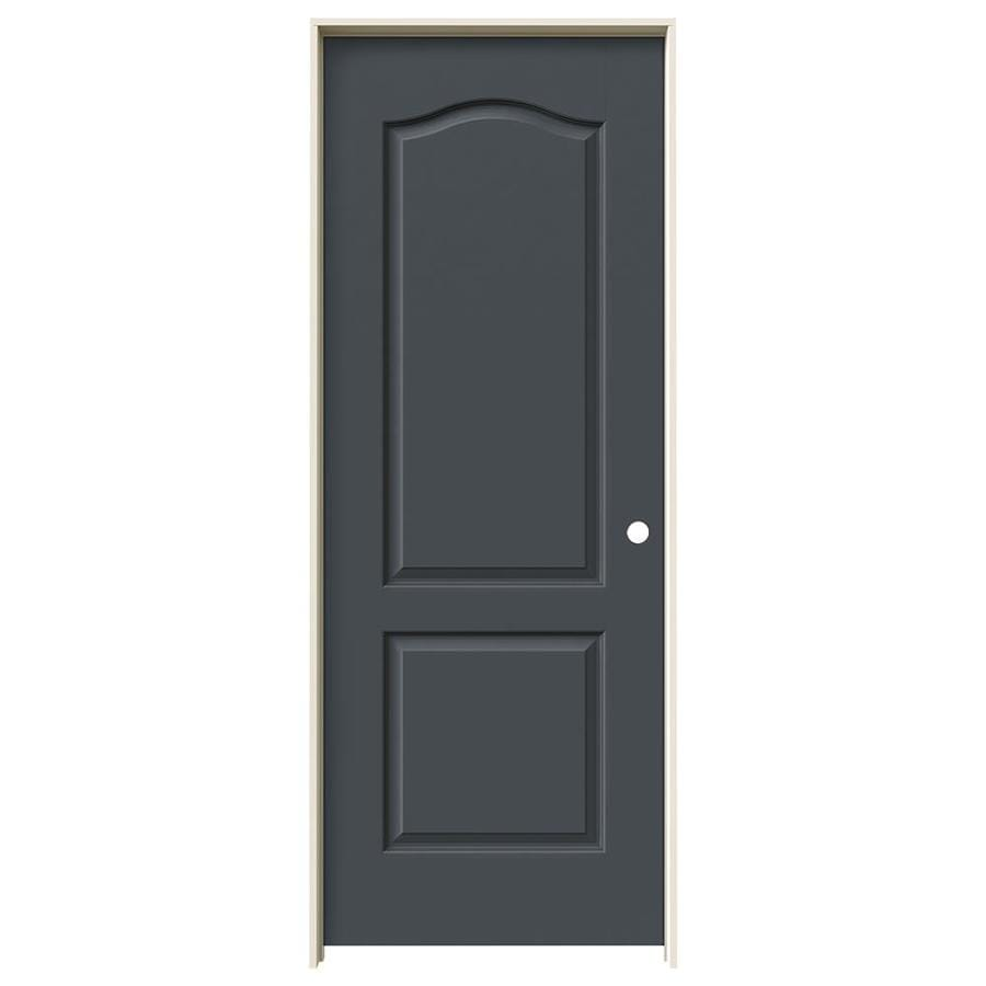 JELD-WEN Slate Prehung Solid Core 2-Panel Arch Top Interior Door (Common: 24-in x 80-in; Actual: 25.562-in x 81.688-in)