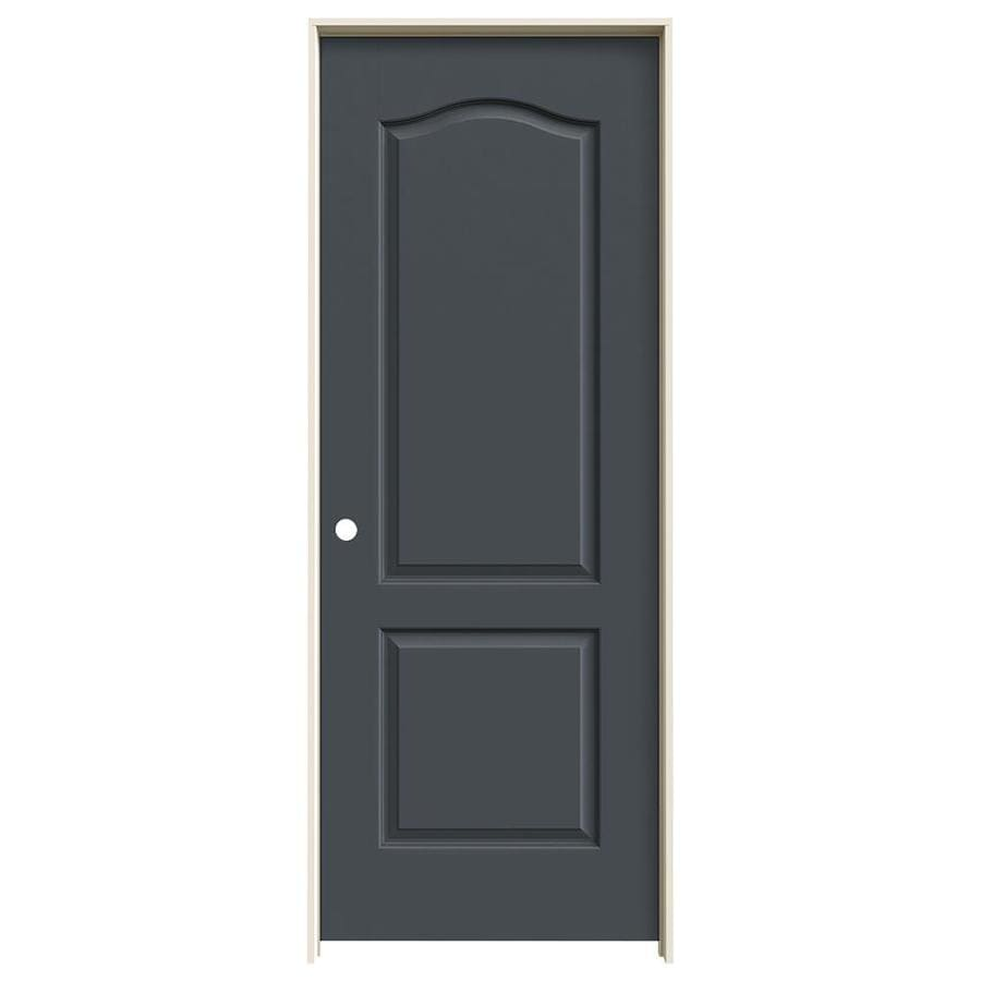 JELD-WEN Slate Prehung Solid Core 2-Panel Arch Top Interior Door (Common: 30-in x 80-in; Actual: 31.562-in x 81.688-in)