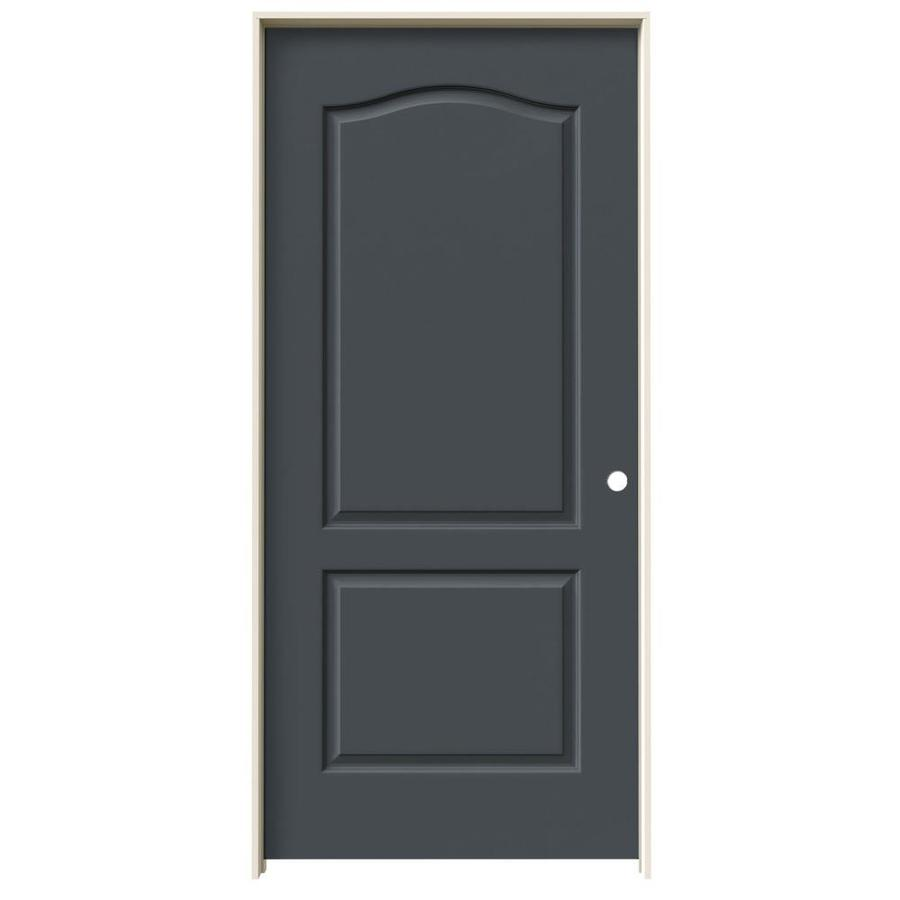 JELD-WEN Slate Prehung Solid Core 2-Panel Arch Top Interior Door (Common: 36-in x 80-in; Actual: 37.562-in x 81.688-in)