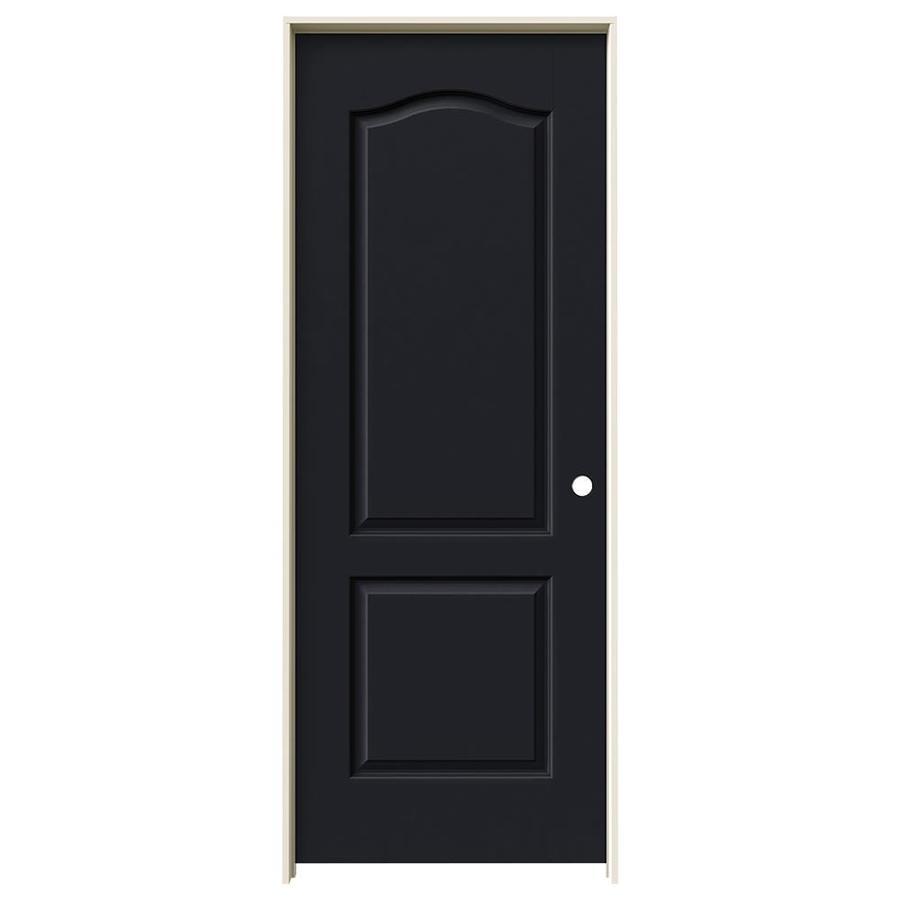 JELD-WEN Midnight 2-panel Arch Top Single Prehung Interior Door (Common: 32-in x 80-in; Actual: 33.562-in x 81.688-in)