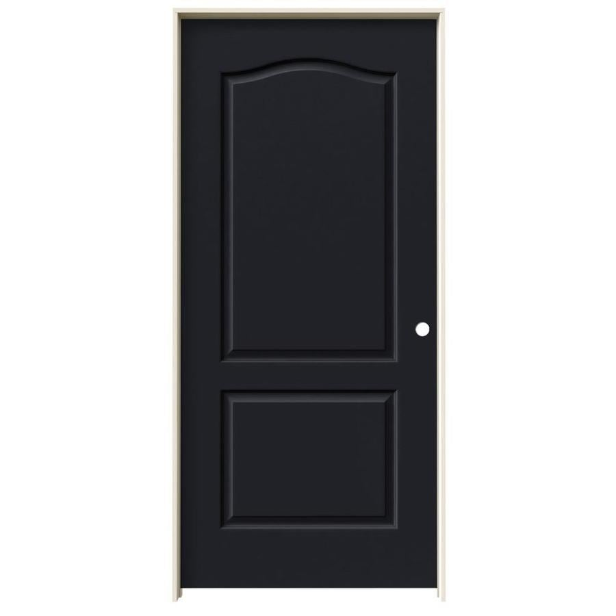 JELD-WEN Midnight Prehung Solid Core 2-Panel Arch Top Interior Door (Common: 36-in x 80-in; Actual: 37.562-in x 81.688-in)