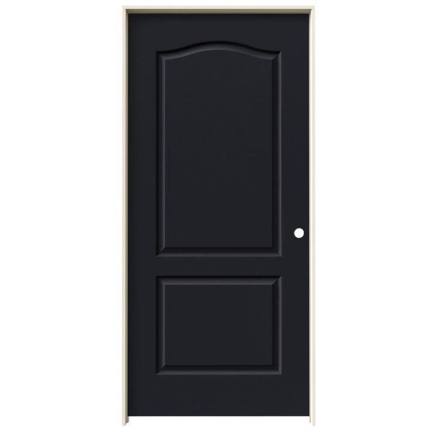 JELD-WEN Midnight 2-Panel Arch Top Single Prehung Interior Door (Common: 36-in x 80-in; Actual: 37.562-in x 81.688-in)