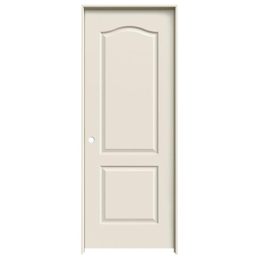 JELD-WEN Prehung Solid Core 2-Panel Arch Top Interior Door (Common: 24-in x 80-in; Actual: 25.562-in x 81.688-in)
