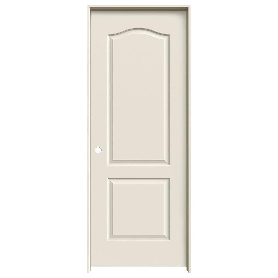 JELD-WEN Princeton Primed Solid Core Molded Composite Single Prehung Interior Door (Common: 28-in x 80-in; Actual: 29.5620-in x 81.6880-in)