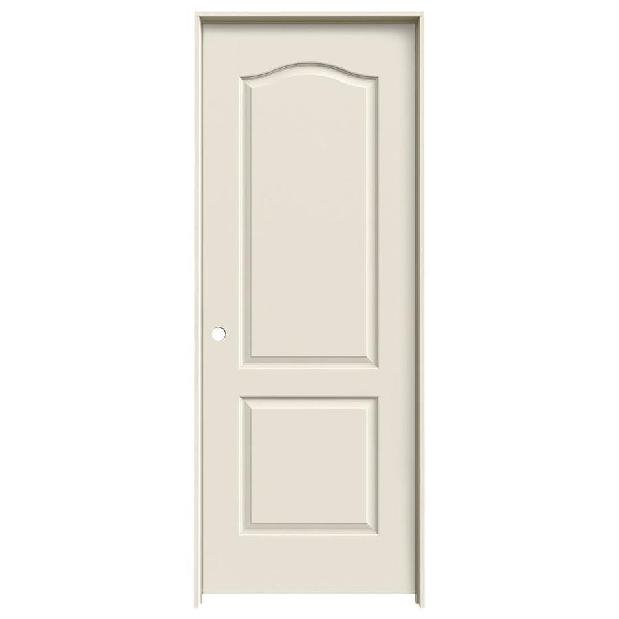 JELD-WEN Princeton Primed Solid Core Molded Composite Single Prehung Interior Door (Common: 32-in x 80-in; Actual: 33.562-in x 81.688-in)