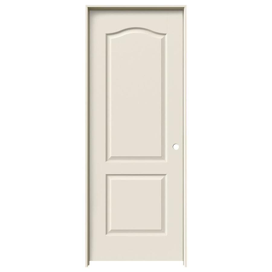 JELD-WEN Princeton Primed Solid Core Molded Composite Single Prehung Interior Door (Common: 32-in x 80-in; Actual: 33.5620-in x 81.6880-in)