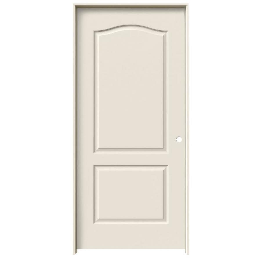 JELD-WEN Prehung Solid Core 2-Panel Arch Top Interior Door (Common: 36-in x 80-in; Actual: 37.562-in x 81.688-in)