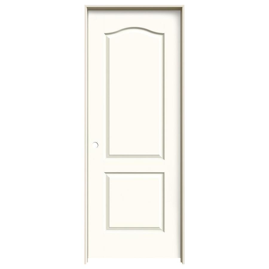 JELD-WEN White Prehung Hollow Core 2-Panel Arch Top Interior Door (Common: 30-in x 80-in; Actual: 31.562-in x 81.688-in)