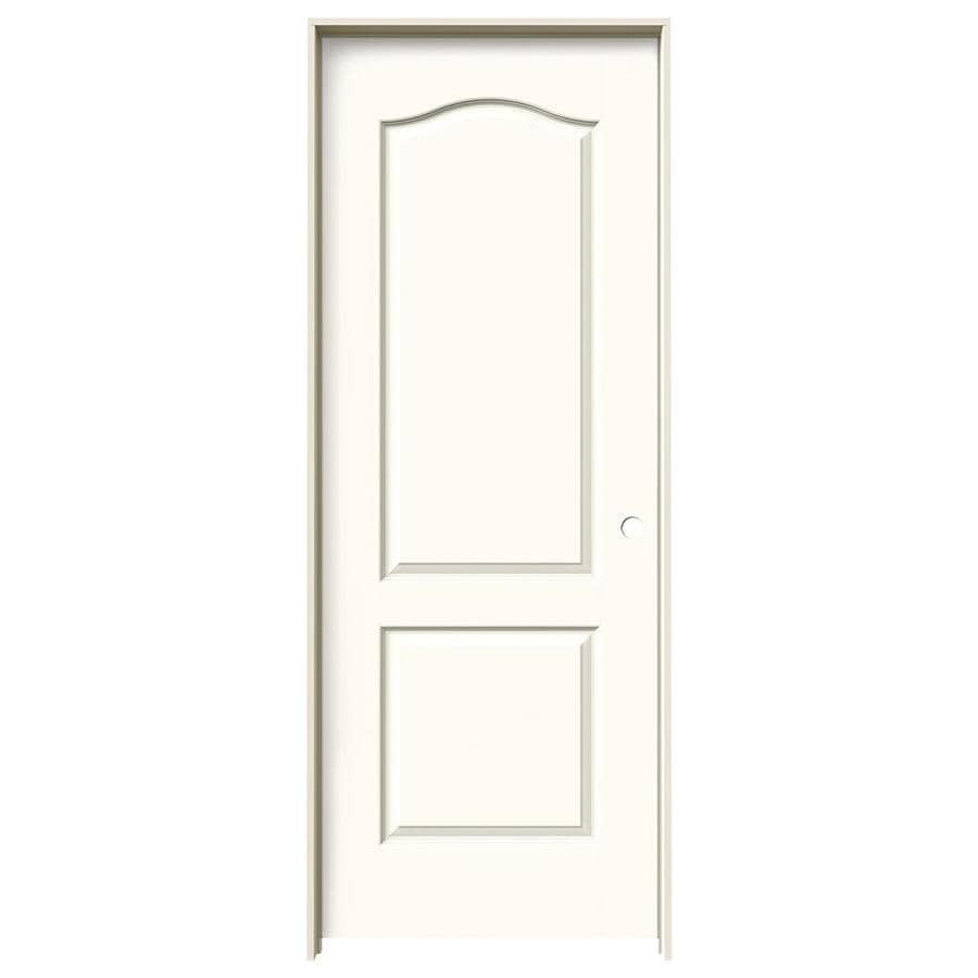 JELD-WEN White Prehung Hollow Core 2-Panel Arch Top Interior Door (Common: 32-in x 80-in; Actual: 33.562-in x 81.688-in)