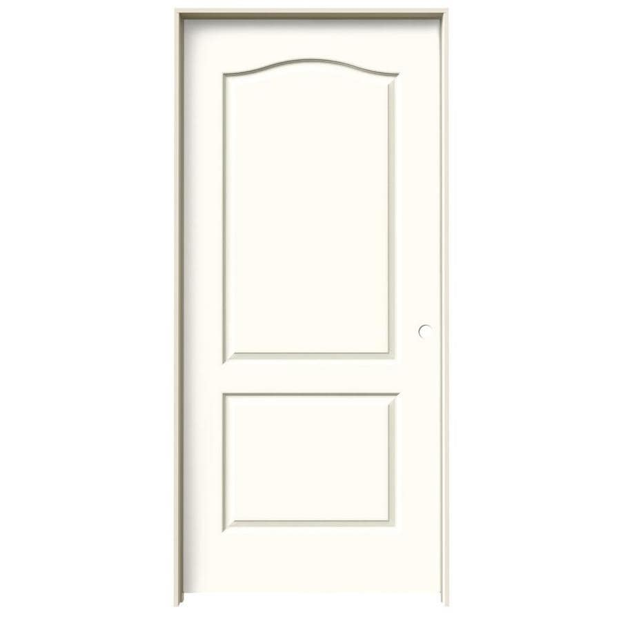 JELD-WEN Moonglow Prehung Hollow Core 2-Panel Arch Top Interior Door (Common: 36-in x 80-in; Actual: 37.562-in x 81.688-in)