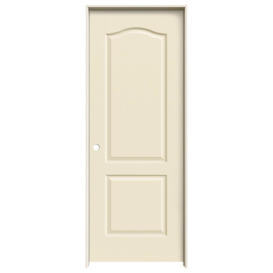 JELD-WEN Cream-N-Sugar Prehung Hollow Core 2-Panel Arch Top Interior Door (Common: 28-in x 80-in; Actual: 29.562-in x 81.688-in)