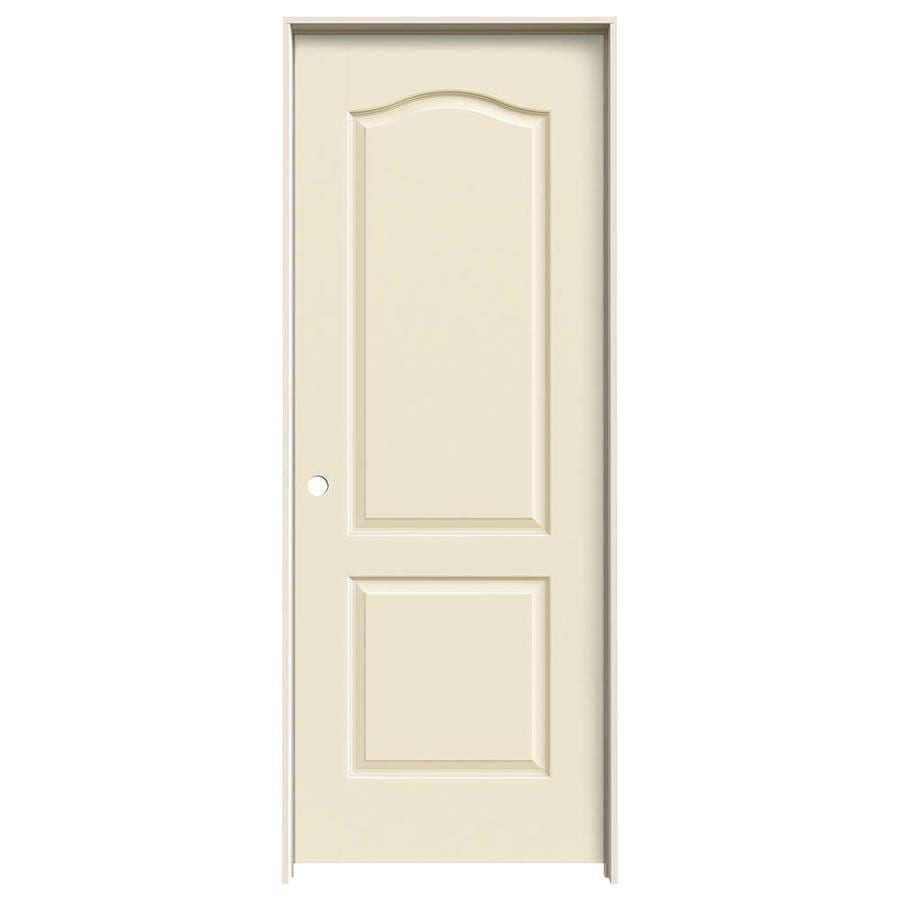 JELD-WEN Cream-N-Sugar Prehung Hollow Core 2-Panel Arch Top Interior Door (Common: 30-in x 80-in; Actual: 31.562-in x 81.688-in)