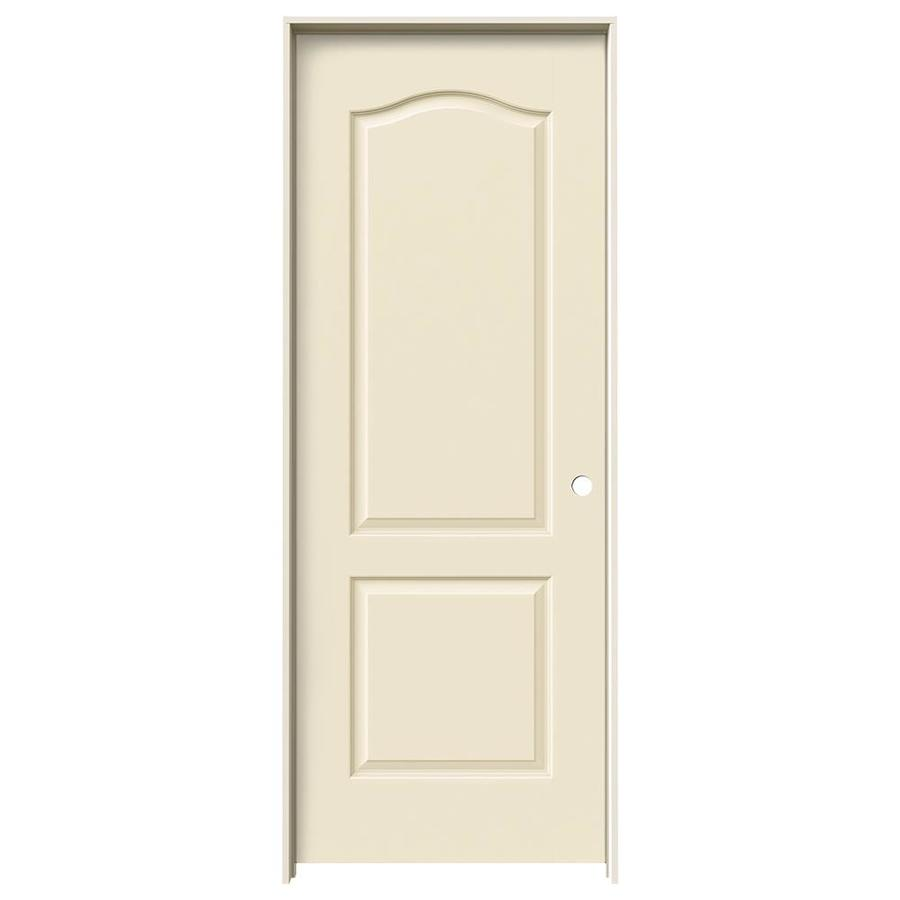 JELD-WEN Princeton Cream-N-Sugar Hollow Core Molded Composite Single Prehung Interior Door (Common: 32-in x 80-in; Actual: 33.562-in x 81.688-in)