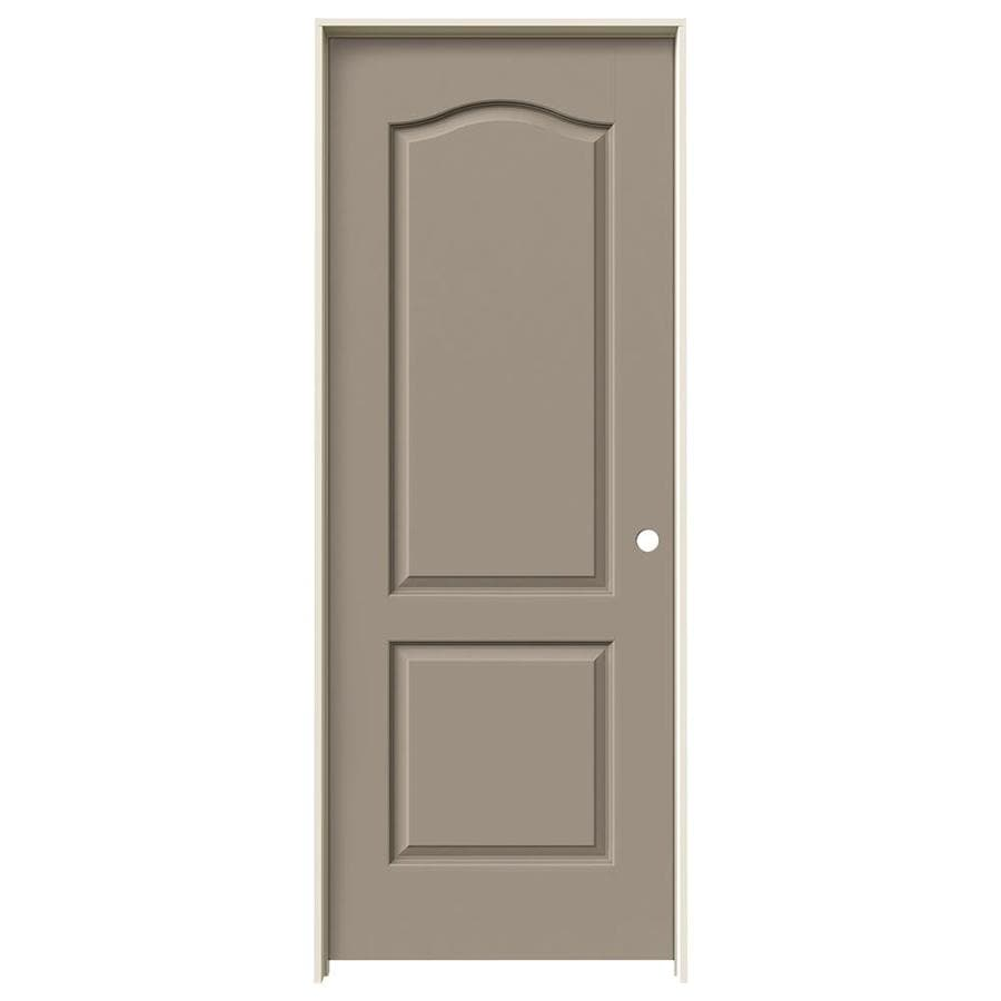 JELD-WEN Sand Piper Prehung Hollow Core 2-Panel Arch Top Interior Door (Common: 28-in x 80-in; Actual: 29.562-in x 81.688-in)