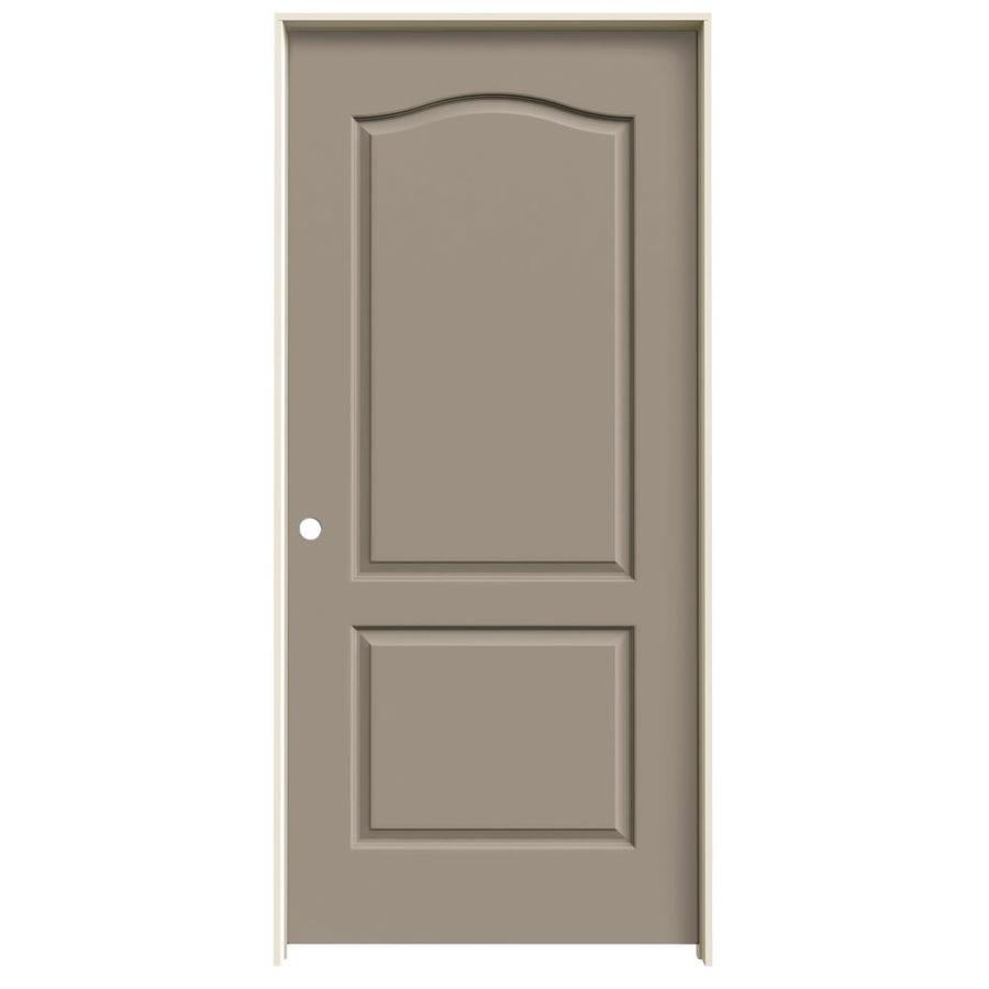 Shop Jeld Wen Sand Piper 2 Panel Arch Top Single Prehung Interior Door Common 36 In X 80 In