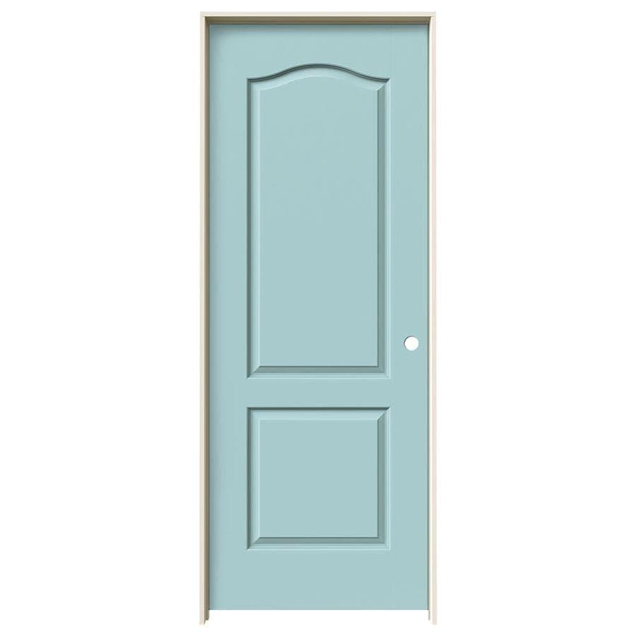 JELD-WEN Princeton Sea Mist Hollow Core Molded Composite Single Prehung Interior Door (Common: 24-in x 80-in; Actual: 25.562-in x 81.688-in)