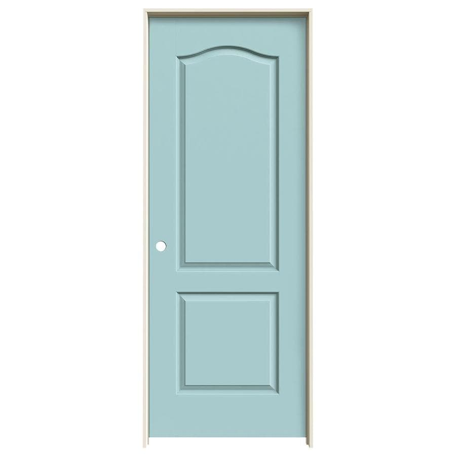 JELD-WEN Sea Mist 2-panel Arch Top Single Prehung Interior Door (Common: 28-in x 80-in; Actual: 29.562-in x 81.688-in)