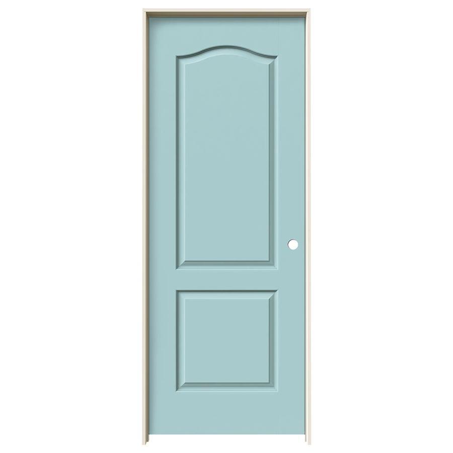 JELD-WEN Princeton Sea Mist Hollow Core Molded Composite Single Prehung Interior Door (Common: 30-in x 80-in; Actual: 31.5620-in x 81.6880-in)