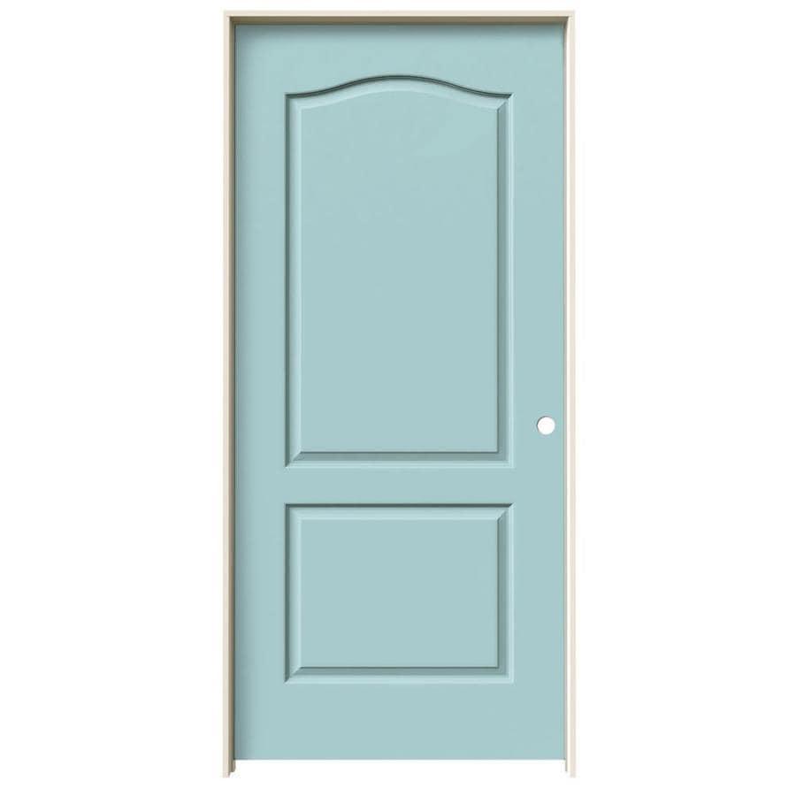 JELD-WEN Sea Mist 2-panel Arch Top Single Prehung Interior Door (Common: 36-in x 80-in; Actual: 37.562-in x 81.688-in)