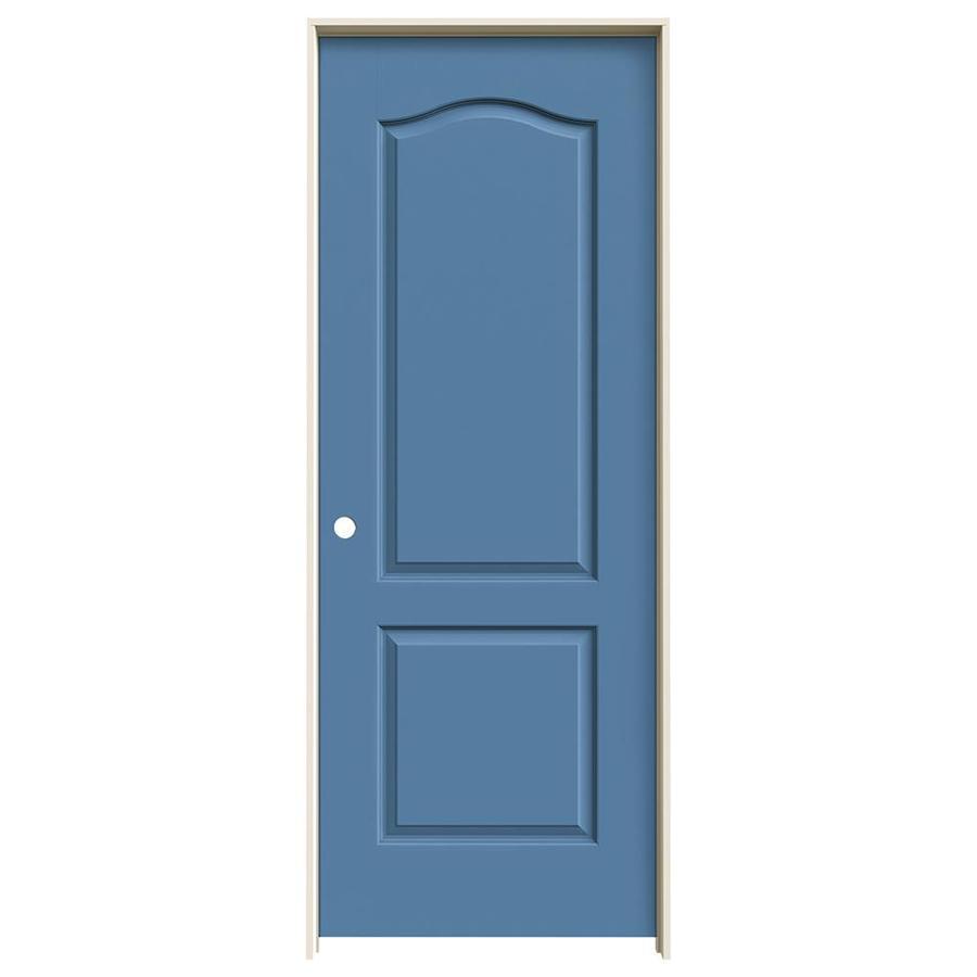 JELD-WEN Princeton Blue Heron Hollow Core Molded Composite Single Prehung Interior Door (Common: 24-in x 80-in; Actual: 25.562-in x 81.688-in)