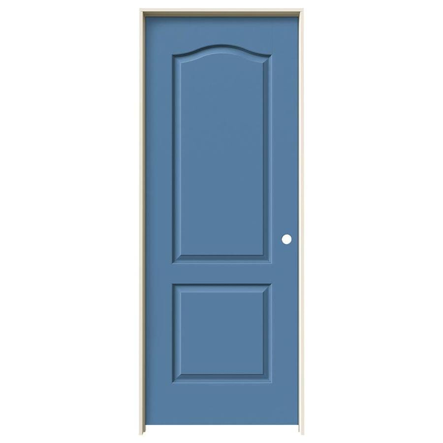 JELD-WEN Princeton Blue Heron Hollow Core Molded Composite Single Prehung Interior Door (Common: 30-in x 80-in; Actual: 31.5620-in x 81.6880-in)