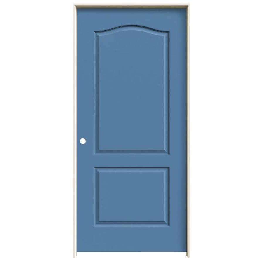 JELD-WEN Blue Heron Prehung Hollow Core 2-Panel Arch Top Interior Door (Common: 36-in x 80-in; Actual: 37.562-in x 81.688-in)